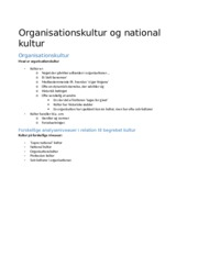 7. Organisationskultur og national kultur