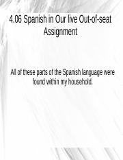 4.06 Spanish in Our lives Out-of-seat Assignment.odp