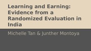 02 Learning and Earning- Evidence from a Randomized Evaluation in India