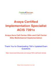 Avaya 7391x Exam best practice questions.pdf