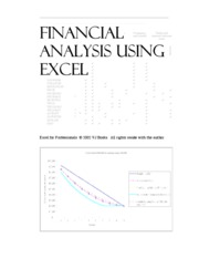 Financial Analysis Using Excel