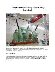 12 Transformer Factory Tests Briefly Explained.pdf