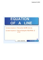 FINDING THE EQUATION OF A LINE PART 2