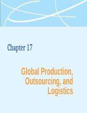 Global Production, outsourcing and logistics (1)
