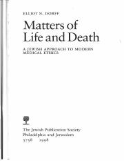 Dorff, Matters of Life and Death- Chap 1 (and 2, which you're not responsible for).pdf