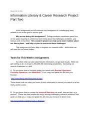 Information Literacy Career Research Project Part Two.docx
