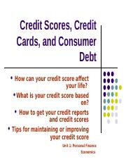 Credit Scores and Credit Cards.StudentNotes.ppt.ppt