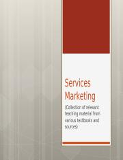 Services Marketing Concepts