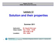 Lecture 13_Solution and their properties