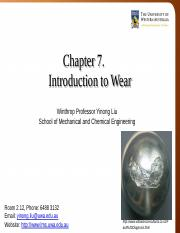 Lecture 7 - Introduction to Wear.pptx