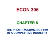 CHAPTER 8 COMPETITVE FIRM S10 BLACKBOARD