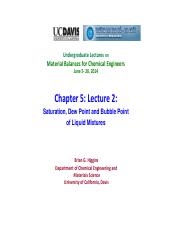 Chapter 5- Saturation, Dew Point, Bubble Point