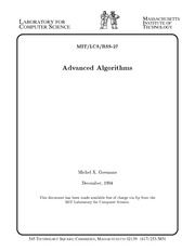 Advanced Algorithms 1.1