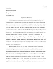 fast food english paper