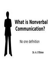 What is Nonverbal Communication_