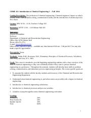 Class information CHME 113 - Fall 2014(1).doc