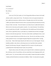 Great Gatsby lit analysis