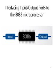 Interfacing IOdevices