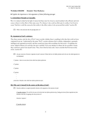 Worksheet 0206-Descartes Third Meditation