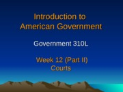 PPT Slides Week 13 Courts