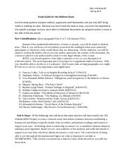 HIEU 149 Study Guide for the Midterm Exam 2015