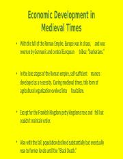 3-ECONOMIC DEVELOPMENT IN MEDIEVAL TIMES