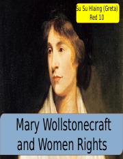 Mary Wollstonecraft and women's rights .pptx