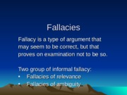 Fallacies in Logic_6th Meeting