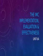UNIT-6a The IMC implementation, evaluation & effectiveness.pptx