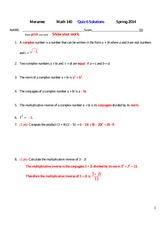 MATH 140 Spring 2014 Quiz 6 Solutions
