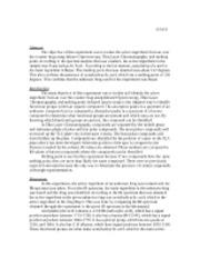 esterification lab report