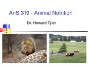 1 AnS 319 - Animal Nutrition Introduction