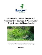 The use of Reed bed for the treatment of sewage & wastewater