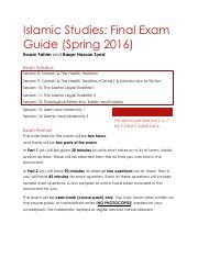 Islamic+Studies+Final+Exam+Guide+Spring+2016