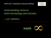 RSCH 2501 Week 8 Lecture Slides - Basic Stats