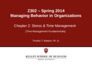 Chapter 2 Time Mgt Fundamentals Spring 2014