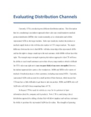 Evaluating Distribution Channels
