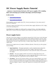 DC Power Supply Basics Tutorial by Ian Pole.docx