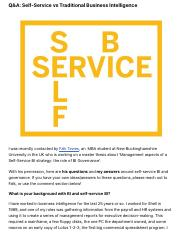 Q&A: Self-Service vs Traditional Business Intelligence | Business Analytics & Digital Business.pdf