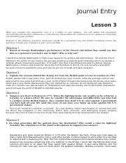 LESSON 3 Journal US HISTORY