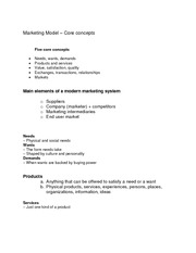 Principles of Marketing- Marketing Model