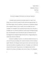 Essay-Lady of Guadalupe