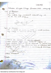 Reflection of Light and Image formation Notes