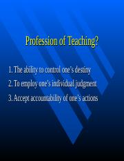 Profession of Teaching.ppt