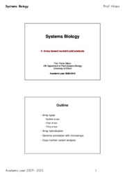 Systems_Biology_2009_Lesson_4