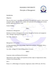 Principles of Management Course Outline (1)