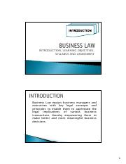 BUS015Jan2014_Topic01_Business Law Intro