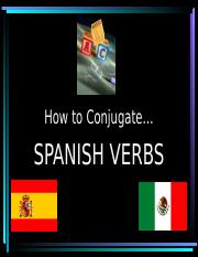 Conjugating verbs in the present (1)