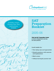 Official SAT 2005-2006 SAT Practice test booklet