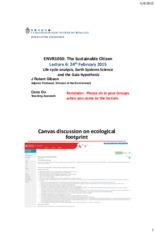 ENVR1050 06 Life cycle analysis, Gaia hypothesis POST LECTURE 2015 03 04.pdf
